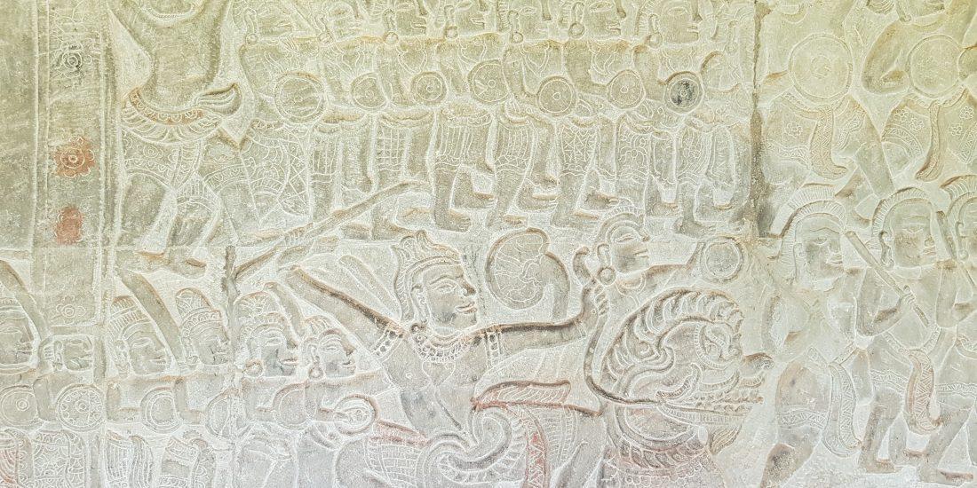 Angkor Wat muur